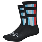 "DeFeet Aireator 6"" Handlebar Mustache Delux Sock black/blue/white/red"