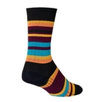 Sockguy Twilight SGX6 Socks black/orange/blue
