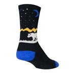 Sockguy Alaska Wool Crew Socks black/white/yellow