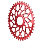 Absolute Black Easton Direct Mount CX Oval 40T - Red