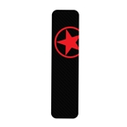 Bike Armor Downtube Frame Protector, Single - Red Star