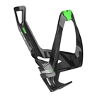 Elite Cannibal XC Bottle Cage Black Glossy - Green Graphic