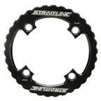 Straitline Components Serrated Bash Ring 4B/104 Max 34t - Black