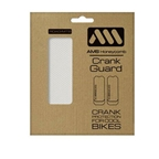 All Mountain Style Crank Guard, Clear/Silver