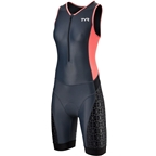 TYR Competitor Women's Tri Suit: Gray/Coral