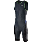 TYR Competitor Men's Tri Suit: Gray/Navy