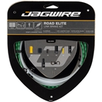 Jagwire Road Elite Link Brake Cable Kit SRAM/Shimano with Ultra-Slick Uncoated Cables, Limited Green