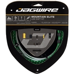 Jagwire Mountain Elite Link Shift Cable Kit SRAM/Shimano with Ultra-Slick Uncoated Cables, Limited Green