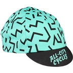All-City The Max Cycling Cap: Black/Mint, One Size