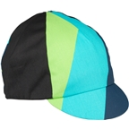 All-City Interstellar Cycling Cap: Black/Blue/Green/Turquoise, One Size