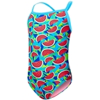 TYR Tutti Frutti Addy Diamond Girl's Swimsuit: Turquoise/Multi-Color