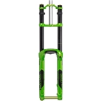 "DVO Onyx Dual Crown Boost Fork: 27.5"", 203mm, 20mm Axle, Tapered Steerer, Green"