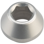 Wolf Tooth 12mm Rear Thru Axle Axle Cap Silver
