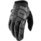100% Brisker Men's Full Finger Gloves: Heather Gray