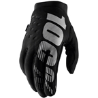 100% Brisker Women's Full Finger Gloves: Black/Gray