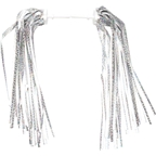 Dimension Kid's Bike Streamers: Silver-Platinum; Pair
