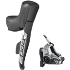 SRAM RED eTap AXS HRD Shift/Brake Lever and Hydraulic Disc Caliper - Right/Rear, Flat Mount 20mm Offset, 1800mm Hose, Black/Silver, D1