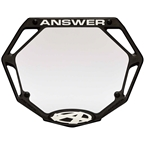 Answer BMX 3D Pro Number Plate - Black