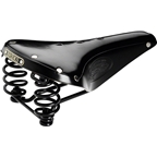 Brooks Flyer Saddle Black with Black Steel Rail