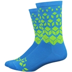Defeet Aireator 6 On The Rocks Sock: Blue/Yellow