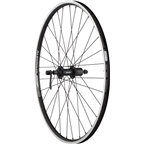 "Quality Wheels Rear Wheel Value Series 26"" 135mm QR 32h Shimano / Alex DC19 / DT Factory All Black"