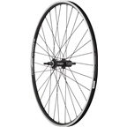 Quality Wheels Rear Wheel Value Series 700c 135mm Bolt-on 32h Shimano / Alex DC19 / DT Factory All Black