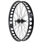 """Quality Wheels Rear Pugsley Wheel Disc 26"""" Shimano XT QR x 135mm 10s Surly Other Brother Darryl Tubeless 17.5mm Offset"""