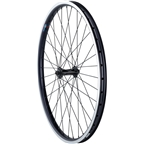 """Quality Wheels Front Wheel Clydesdale XL Rim Brake 26"""" 100mm QR Shimano Deore / Velocity Cliffhanger Black"""