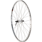 "Quality Wheels Front Wheel Road Rim 27"" 100mm QR 32h Shimano Hub / Sun CR-18 Polished / DT Industry Silver"