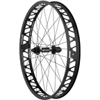 """Quality Wheels Fat Rear Wheel 26"""" DT 350 197mm x 12mm / Surly Other Brother Darryl / All Black"""