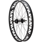 """Quality Wheels Rear Wheel Fat Disc 26"""" 170mm QR and 177mm x 12mm Convertible Shimano 32h Formula / Surly Other Brother Darryl Black"""
