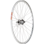 Quality Wheels Pavement Front Rim Brake Wheel 700c 36h Shimano LX Dynamo / Velocity Dyad / DT Stainless Steel All Silver