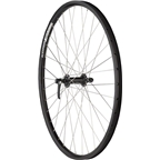 """Quality Wheels Front Wheel Mountain Rim Alex 26"""" 100mm 36h DH19 Black / Shimano Deore Black / DT Industry Silver"""