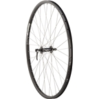 Quality Wheels Front Wheel Mountain Rim Alex 700c 100mm 36h DH19 Black / Shimano Deore Black / DT Stainless Steel Silver