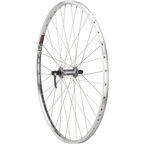 "Quality Wheels Value Rim Front Wheel 100mm QR Shimano 2400 Silver / Sun CR-18 Polished / 26"" x 1-3/8"" 590mm ISO"