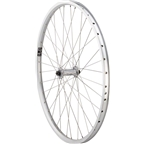 """Quality Wheels Front Value XL Rim Brake 26"""" 100mm QR Velocity NoBS Raw / Shimano T3000 Silver / DT Industry"""