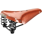 Brooks Flyer Saddle Honey with Black Steel Rail