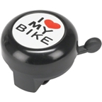 "Dimension ""I Heart My Bike"" Black Bell"