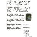 Surly Long Haul Trucker Frame Decal Set with Headbadge: White