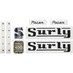 Surly Pacer Frame Decal Set with Headbadge: Black (New)