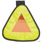 "Aardvark Reflective Yield symbol 7x7"" with Velcro Strap"