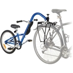 Burley Kazoo Single Speed Trailercycle: Blue