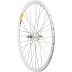 Quality Wheels Rear 700c All-City White Fixed/Fixed, Deep V All White