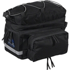 Jandd Rear Rack Bag with Side Panniers: Black