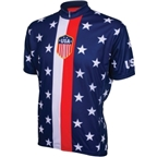 World Jerseys 1956 Retro USA Cycling Jersey: Red/White/Blue