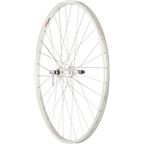 Quality Wheels Value Series Silver Rear Wheel Rim Brake 700c 130mm Freewheel Silver