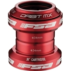 "FSA Orbit MX 1-1/8"" Threadless Red Headset"