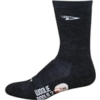 "DeFeet Woolie Boolie 6"" Sock: Charcoal"