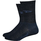 DeFeet WoolEator HiTop Sock: Black