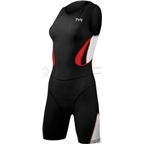 TYR Women's Carbon Zipper Back Shortjohn Tri Suit: Black